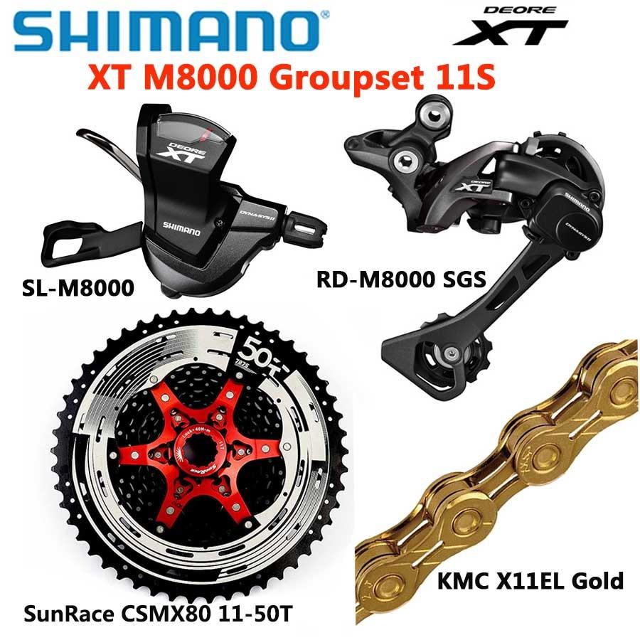 SHIMANO DEORE XT M8000 groupe vtt VTT 1x11-Speed 46T 50T SL + RD + CSMX8 + X11EL M8000 manette de vitesse dérailleur arrière