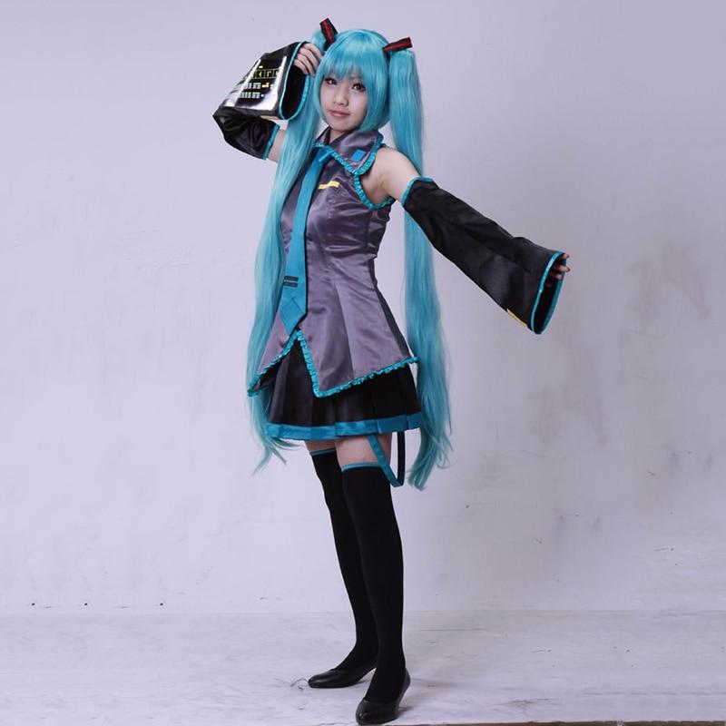 Vocaloid Hatsune Miku Cosplay Costume anime Shirt+Shirt+Tie Party Fancy Dress UK