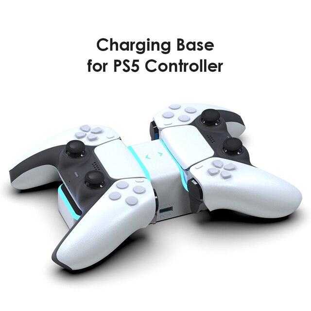 ل PS5 تحكم شاحن مزدوج USB جهاز شحن سريع محطة الوقوف مع USB خارجي ل بلاي ستيشن 5 DualSense اكسسوارات
