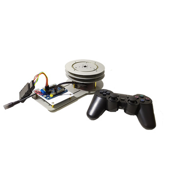 PS2 Remote Control Steel 1 DOF Electric PTZ Robot Arm Rotating Base Stand with 180, 270 Degree Servo DIY STEM Educational Toys industrial robot 3d rotate mechanical arm alloy manipulator 6 dof robot arm rack with 996 servos 1 alloy gripper controller