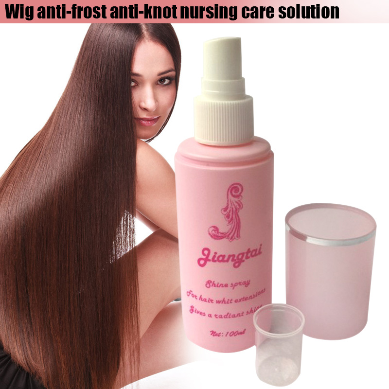 100ML Wig Care Solution Spray For Women Hair Protection Synthetic Hair Wig Conditioner Anti-frizz  Smooth Detanglers Oil