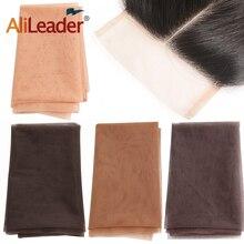 AliLeader 1/4 ярдов Швейцарский Кружевной материал подвал тональный тупея фронтальная закрывающая сеть для изготовления париков плетение волос Топ