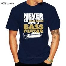 T-shirt Vintage pour homme, haut à manches courtes, avec une guitare basse, marque de luxe, cadeau