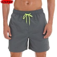Board Shorts Swimsuit Beach-Wear Plus-Size Surf Mens Summer Solid 4XL