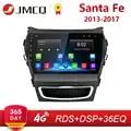 9 2 Din ips Android 2G + 3 2G Автомагнитола для hyundai Santa Fe 3 2013 2017 RDS DSP Авто Аудио навигация gps Navi головное устройство + рамка