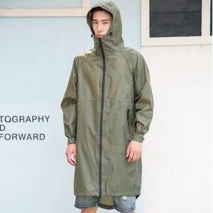 Image 2 - Długa, cienka płaszcz przeciwdeszczowy kobiety mężczyźni wodoodporny kaptur plecak płaszcz przeciwdeszczowy Ponchos kurtki płaszcz kobieta Chubasqueros Big Size