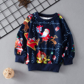 baby costume set 0 2y santa elf climb clothes sets boys gilrs christmas rompers overalls roupas santa claus jumpsuits and hat Children's Sweatshirt Kid Boys Christmas Cartoon Santa Claus Tops Casual Pullover Sweatshirt Toddler Santa Claus Clothes