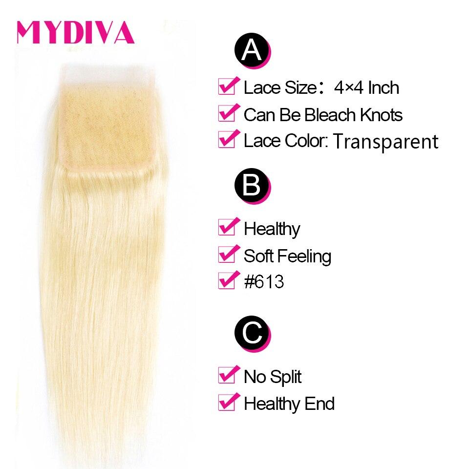 613 Blonde Bundles With Closure Brazilian Straight Hair Bundles With Closure Remy Human Hair Weave 613 Blonde Bundles With Closure Brazilian Straight Hair Bundles With Closure Remy Human Hair Weave Extenstions 10-30 Inch Bundle
