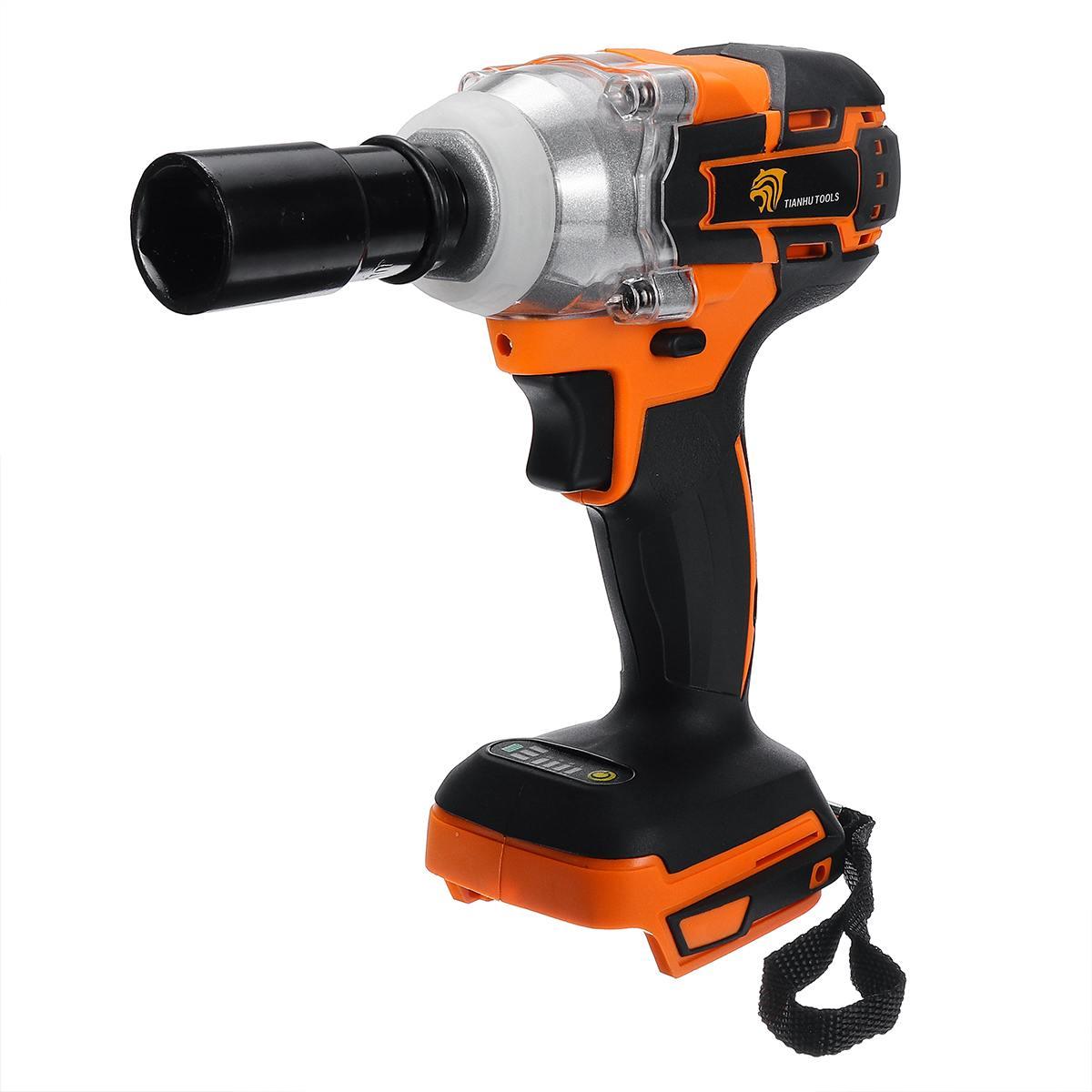 520 n. m brushless chave de impacto ferramenta motorista 1/2 cordless cordless sem fio chave de impacto motorista de potência substituição para makita dtw285z 18 v