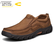 Camel Active New Genuine Leather Men Shoes England Trend Male Footwear Mens Casual Shoes Outdoors Short Boots Man Work Shoes