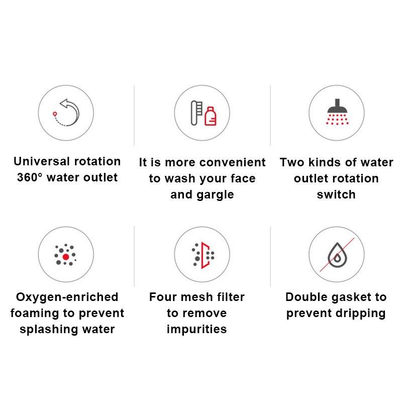 360°/ 720°Rotatable Faucet Sprinkler Splash-Proof Faucet Shower Water-Saving Pressurized Faucet Kitchen Accessories для кухни