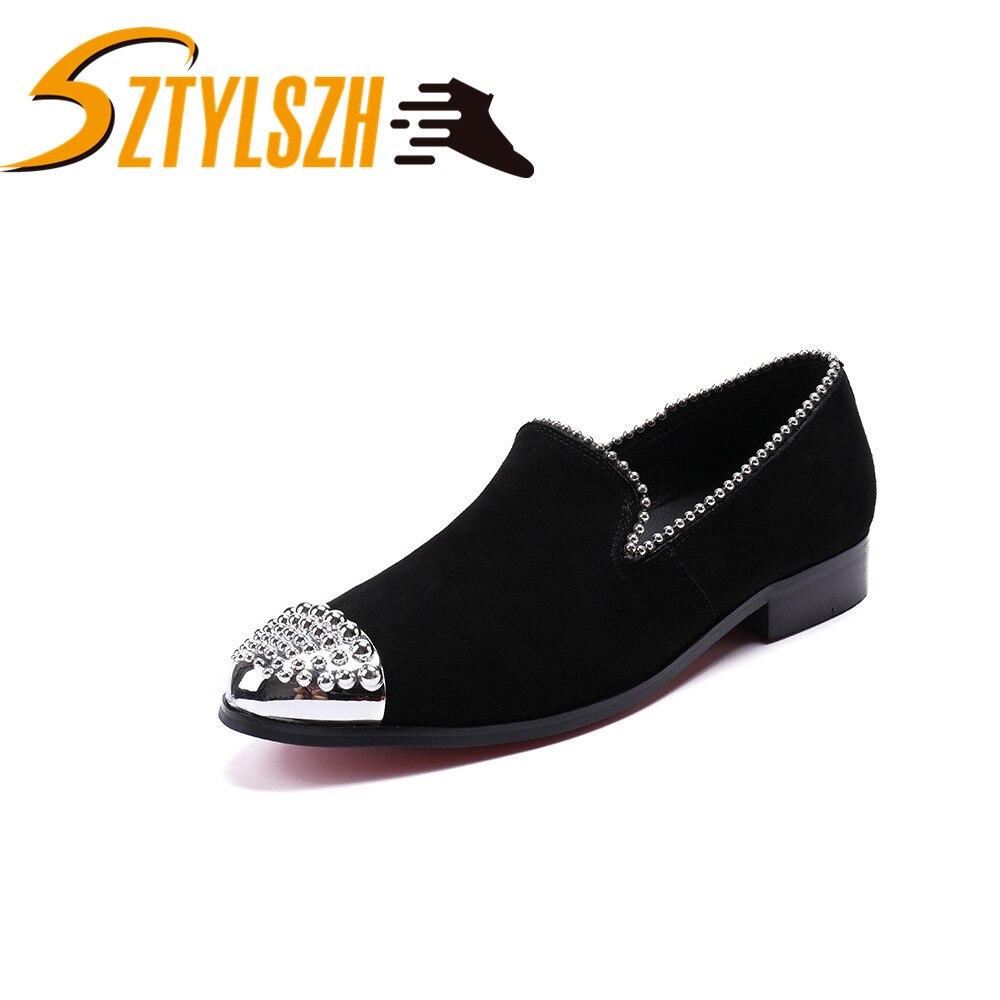 Europe Style nouveaux hommes mocassins fête mariage chaussures noir velours conduite chaussure classique rétro mocassins ashion confortable chaussures décontractées