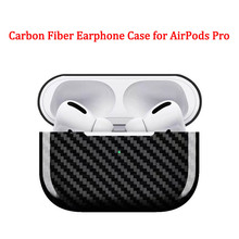 סיבי פחמן אוזניות מקרה כיסוי עבור אפל AirPods פרו מקרה 2019 אמיתי פחמן סיבי LED אלחוטי אוזניות טעינת תיבה קשה מקרה