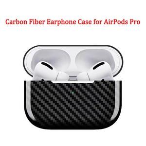 Image 1 - Carbon Fiber Oortelefoon Case Cover Voor Apple Airpods Pro Case 2019 Real Carbon Fiber Led Draadloze Koptelefoon Opladen Box Harde case