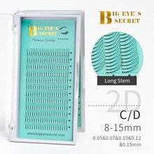 BES Long Stem Volume Lash Premade Fans 2D-7D Faux Mink Eyelashes Extension Supplies 8-16mm Individual