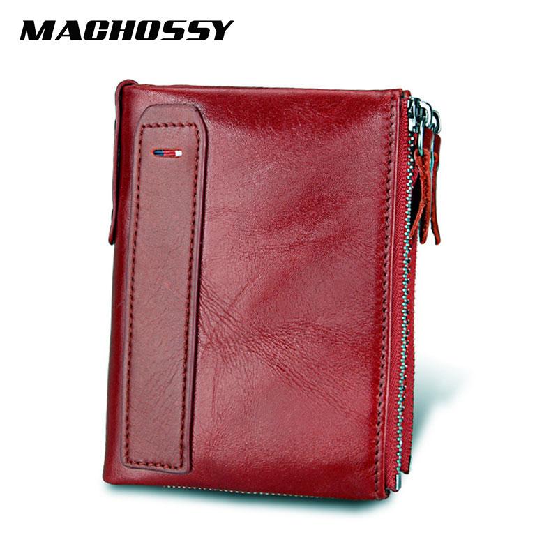 RFID Vintage men Genuine Leather font b Wallet b font Women font b Wallets b font