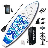 Funwater Premium Inflatable Stand Up Paddle Board, Ultra Durable & Steady, 10'6x33''x6'' , Full SUP Accessories Paddle