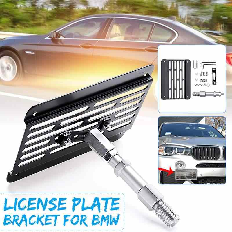 Compatible For Tow Hook License Plate Mount Bracket Holder Bolt On 2008-2012 E82 E88 128i 135i 1M 2006-2011 E90 E91 325i 328i 330i 335i Sedan