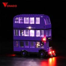 Vonado luz Led para Lego 75957 serie de Harry Potter-bloques de construcción de autobús creador de bloques técnicos de ciudad juguetes (solo la luz)