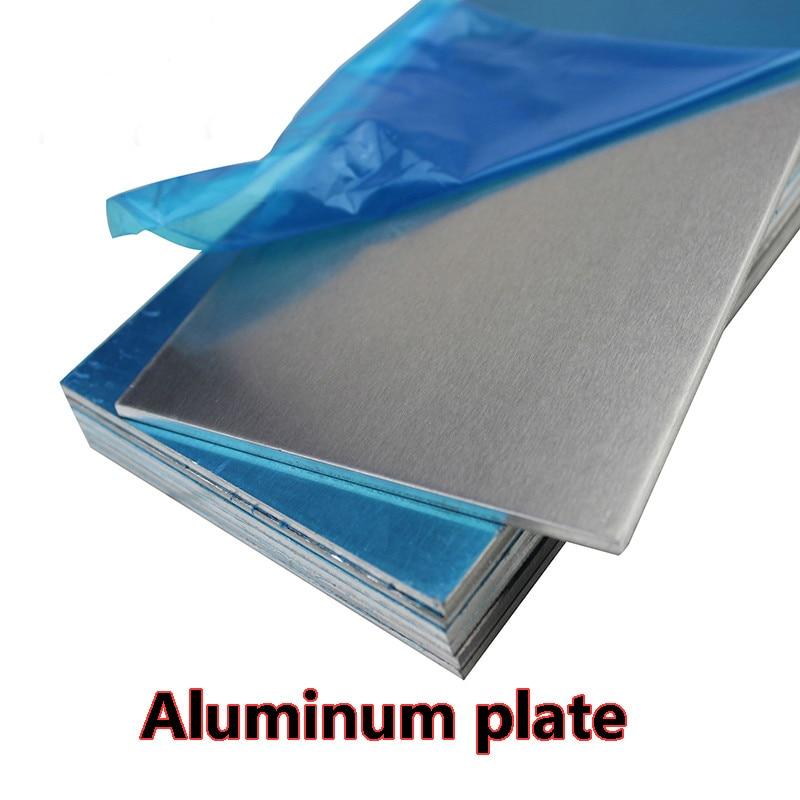 5052 Aluminum plate Flat Aluminum Sheet  DIY Thickness 3mm 5mm 6mm 8mm 10mm  100x100mm 100x200mm