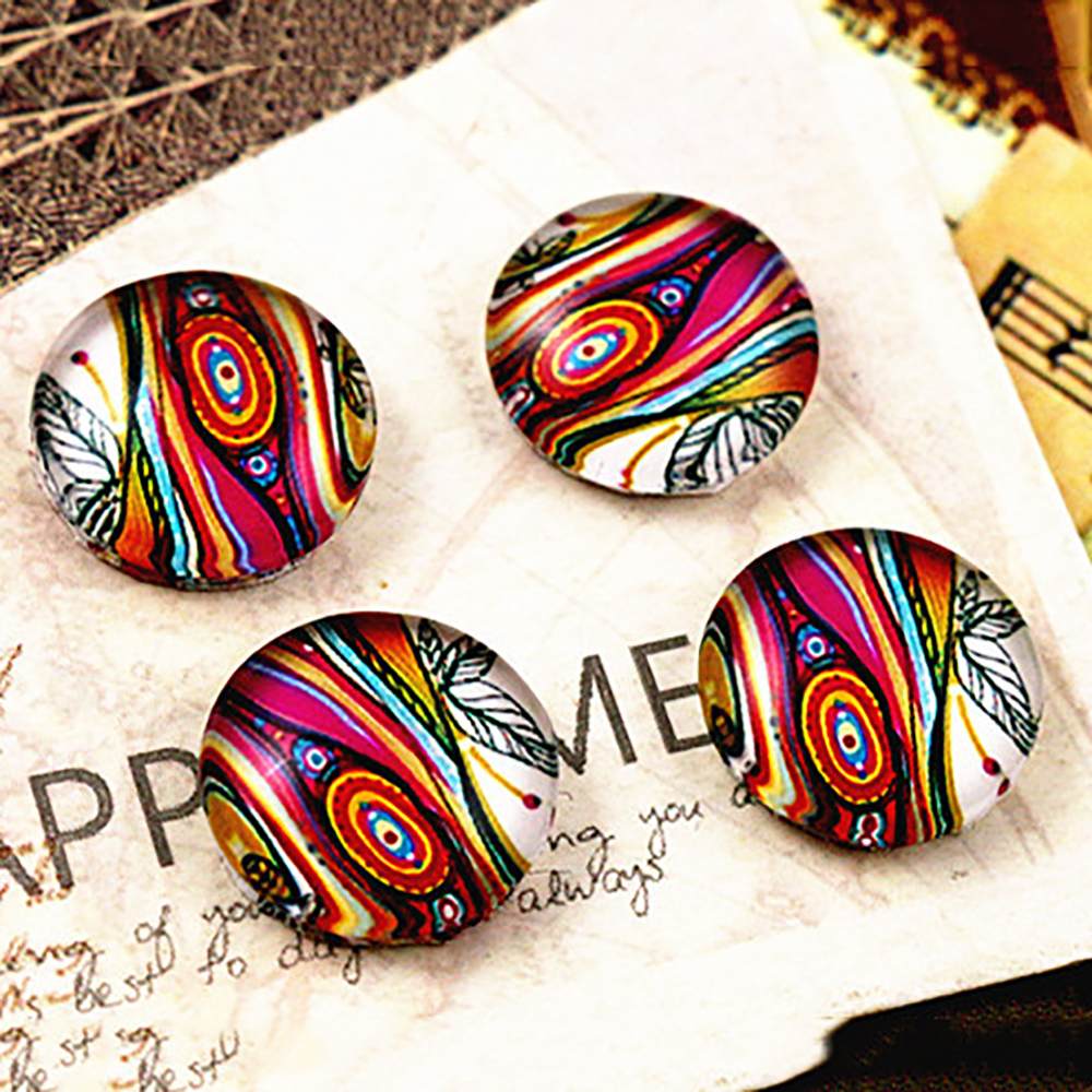 New Fashion  20pcs 12mm Handmade Photo Glass Cabochons (Peacock Feathers)  E3-72
