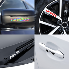 4 Stuks Auto Styling Spiegels Decor Handvat Velg Deur Stickers Voor Lada Vesta Kalina Priora Samara Largus Granta Niva xray