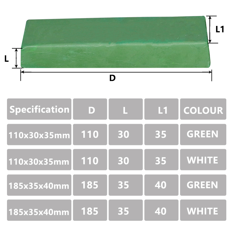 Promote┬Polishing-Paste Chromium Oxide 110x35x30mm-Compound Metals Green 1pc