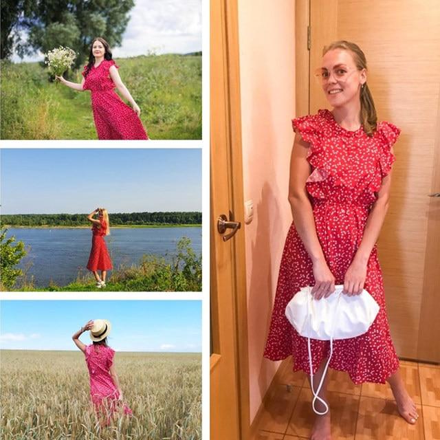 ruffled calf-length summer dress 6