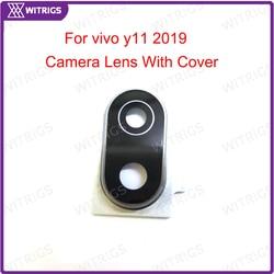 На Алиэкспресс купить стекло для смартфона witrigs back rear camera glass lens for vivo y11 2019 back rear camera lens glass with cover ring flash