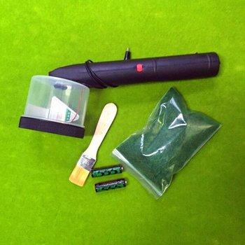 Строительный песочный стол Модель инструмент Электростатическая трава плантатор ремесла Флокирование машина версия батареи