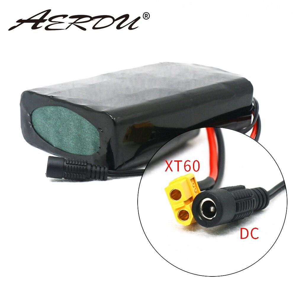 AERDU 36V bateria 10S2P 7Ah 450Watt 18650 bateria Para Scooter de bicicleta elétrica skate 42V 37V 35E XT60 + DC plug