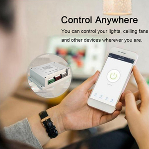 Image 3 - 4CH Smart Wifi Switch Wifi Light Switch 4 Gang 3 Working Modes Inching Interlock Smart Home With Alexa For Home Automaion Tuya