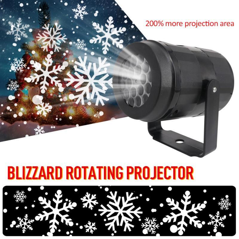 Счастливого Рождества Снежинка прожекторные огни 4 Вт вращающиеся светодиодные лампы для световых сценических эффектов домашние вечерние ...
