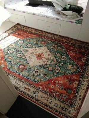 Tapis de fleur nordique pour le salon grands petits tapis mous rouges/chambre à coucher tapis Floral rose tapis de sol Table basse sont tapis