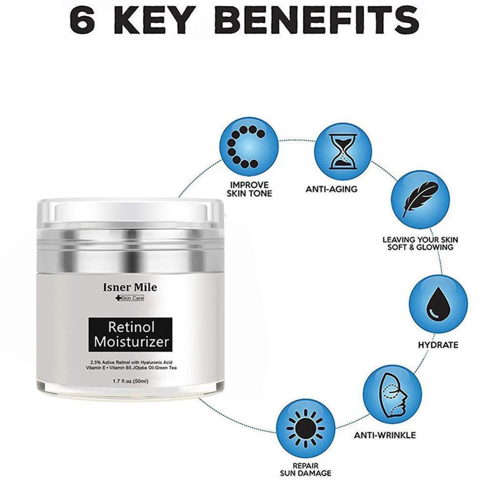 2.5% Anti Aging Wrinkle Acne Face Whitening Serum 50ml Pure Retinol Vitamin A Cream Hyaluronic Acid Skin Care Products