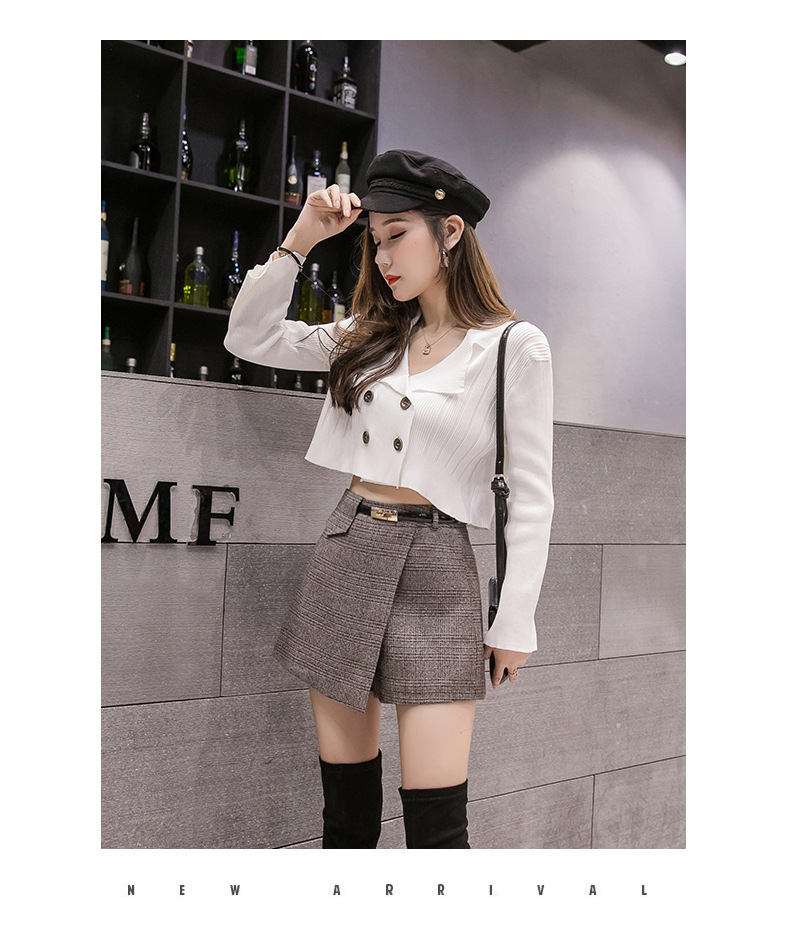 Hb996acae3cca4023b757299428f631866 - Irregular Woolen Plaid Shorts Skirts For Women Atumn Winter Office Short Women Plus Size Booty Shorts Feminino