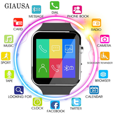 цена New X6 Smart Watch with Camera Touch Screen Support SIM TF Card Bluetooth men Smartwatch for iPhone Xiaomi Android Phone reloj онлайн в 2017 году