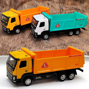1:50 Children's Simulation Car Toy Pull Back Vehicles Alloy Cargo Truck Model Toy Diecast Tipper Tip Lorry Dump Truck Model