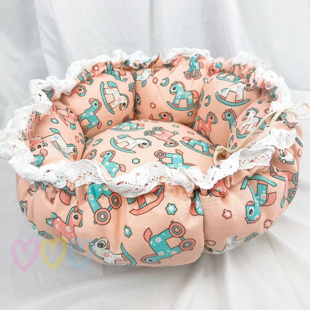 Pet Dog Nest flower Bud Nest Pumpkin Nest Small Dog Kennel Cat Nest Pet Mat Sleep Nest For Cat Teddy Chihuahua Bed 13