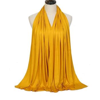 Fashion Modal Cotton Jersey Hijab Scarf Long Muslim Shawl Plain Soft Turban Tie Head Wraps For Women Africa Headband 170x60cm