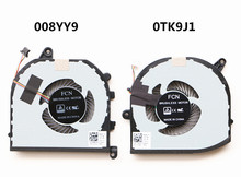 Novo portátil original cpu/gpu cooler ventilador de refrigeração para dell xps 15 9570 precisão 5530 m5530 08yy9 DFS501105PR0T-FKCH 0tk9j1 tk9j1