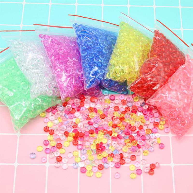 Colorful Beads Balls Charms for Slime Supplies Addition for Fish Tank Slime Accessories Craft DIY Slime Filler Toys for Children(China)