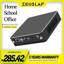 ZEUSLAP 8GB RAM 1TB SSD Intel Core i7 3770 i5 3470 i3 2120 Mini PC Win10 5G WiFi Gigabit Ethernet VGA HDMI compatible con PC de escritorio