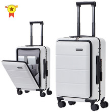 "Baru 20 ""24"" 26 Inch ABS + PC Koper Tas Shell Bentuk Roda Universal Bagasi bingkai Zipper Perjalanan Case Trolley Fashion(China)"
