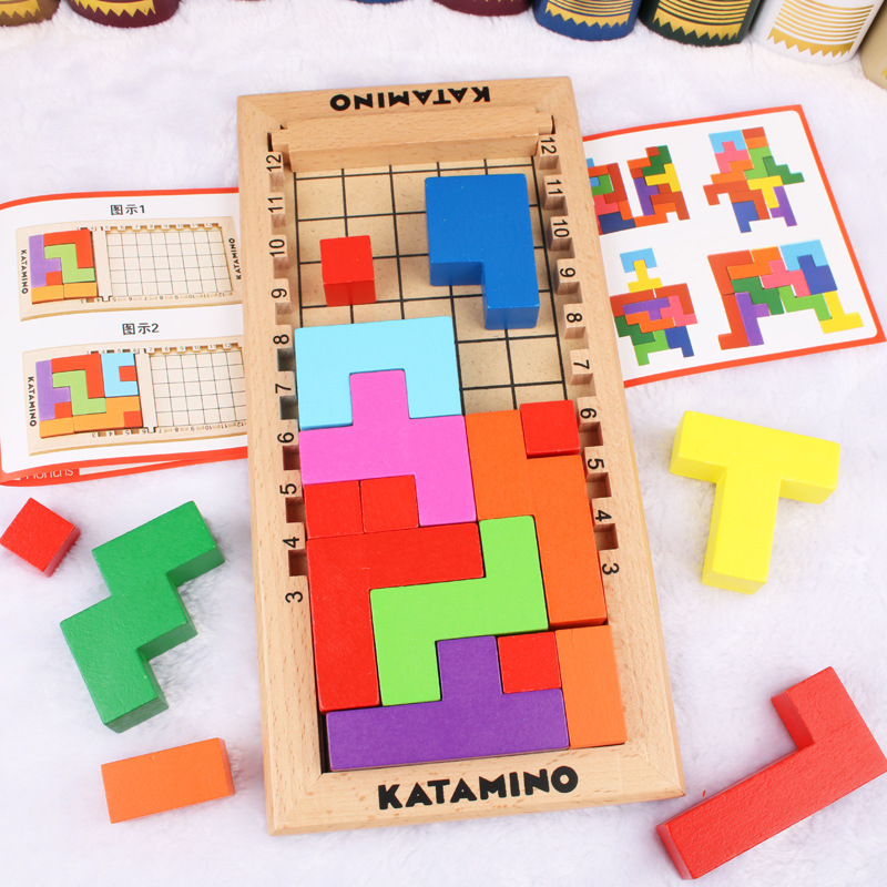Katamino Flexible Russia Square Kata Mino Color Space Stereo Early Childhood Educational Force Building Blocks Toy