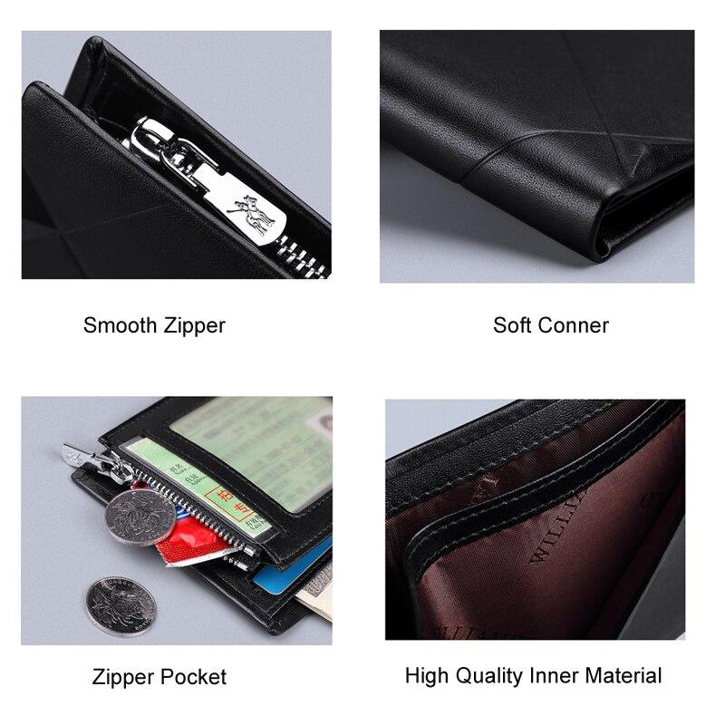 mini bolsa design casual bifold carteira marca curto fino carteira