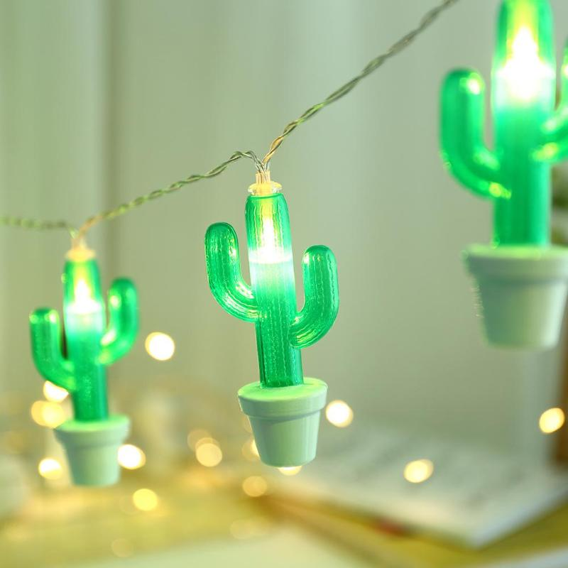 LED Neon Night Light Cactus Shape String Copper Wire Christmas Party Wedding Home Decor For Kids Room Holiday