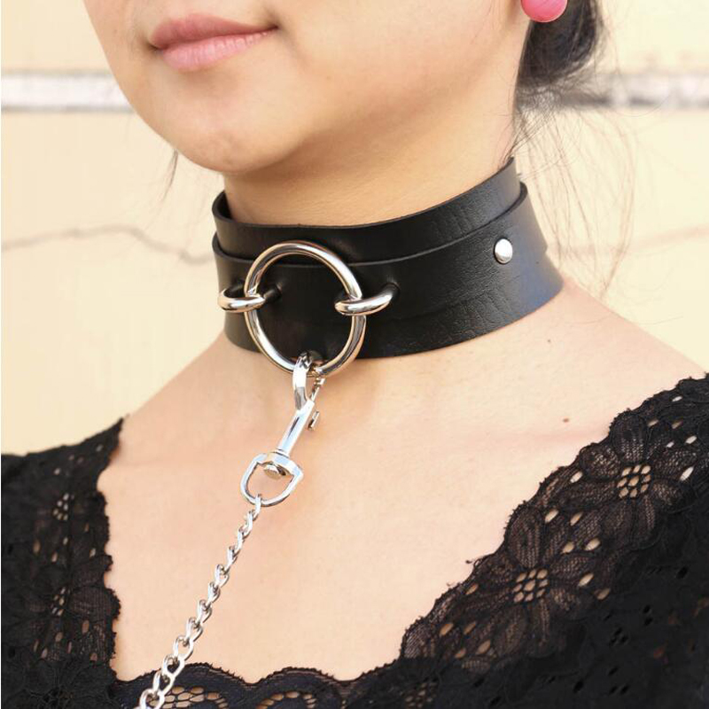 Sexy punk Choker Collar  leather choker Bondage cosplay Goth jewelry women gothic necklace  Harajuku accessories|Choker Necklaces|   - AliExpress