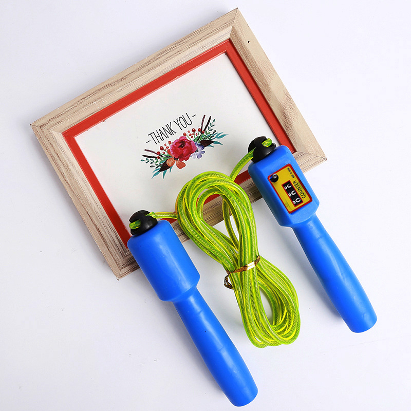 New Style With Steel Wire Children Outdoor Sports Fitness Jump Rope Creative Wear-Resistant And Durable Automatic Counting Jump