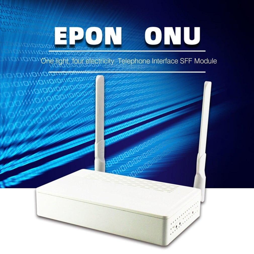 Deux ports EPON ONU Terminal Avec 1G1F + CATV + WIFI Vidéosurveillance Au FTTH Mode Mini Modem Fiber Optique Router Firmware L'UE plue